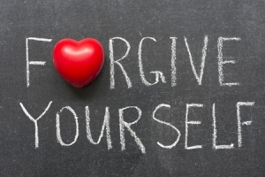Forgive Youself stock photo