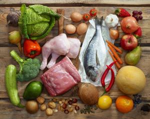 Paleo foods stock photo