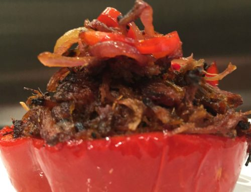 Recipe: Crispy Carnitas in Smoked Red Pepper Cups